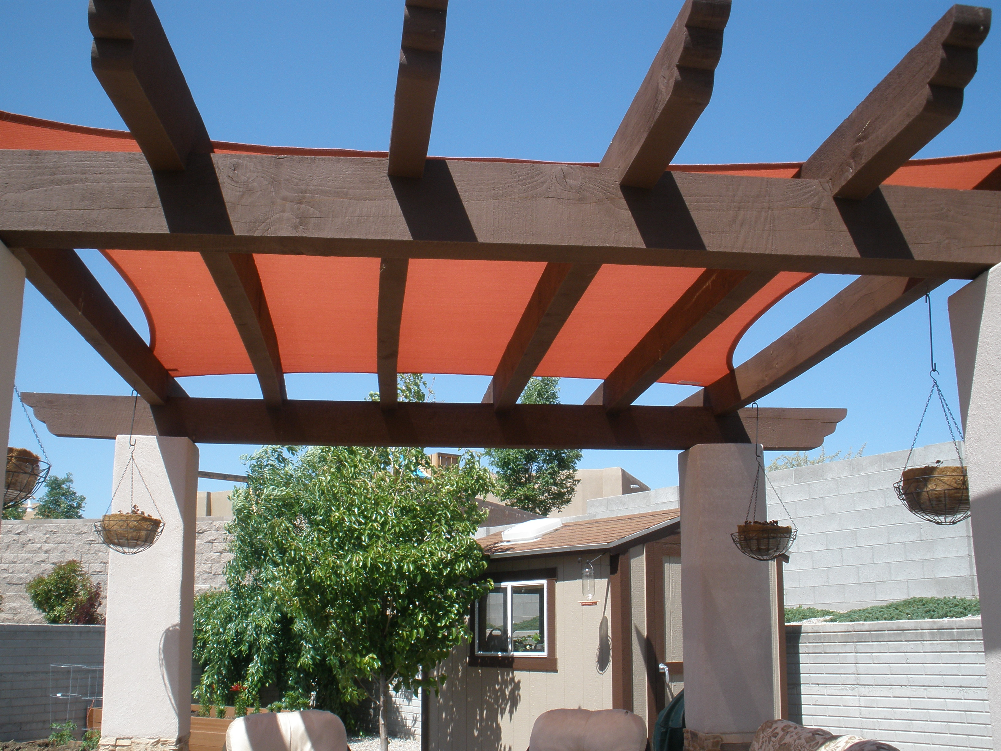 Shade Sail On Wooden Portal By Contractor