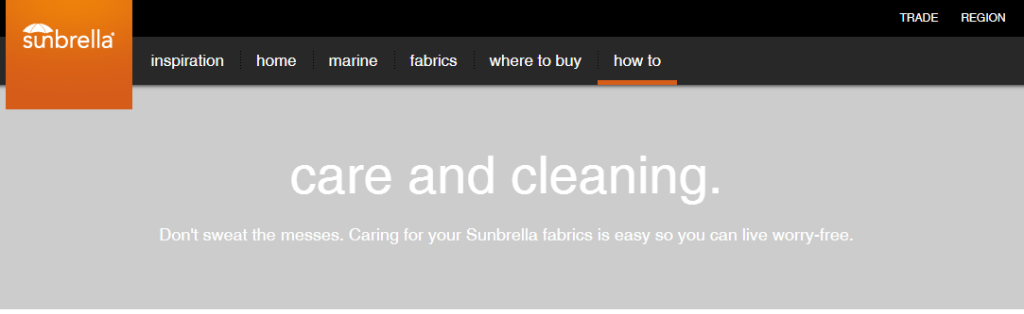 Care and Cleaning of Sunbrella Fabric