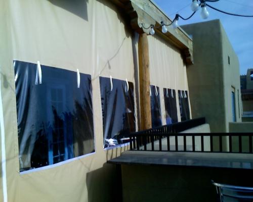 VCP(Vinyl Coated Polyester) Enclosure - Rader Awning