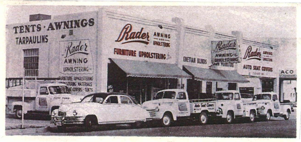 Rader Awning Shop in 1947