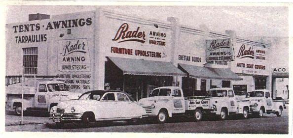 Rader Awning Shop in 1947