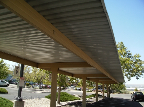 Semi-Cantlivered Carport - Rader Awning