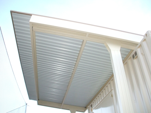 Semi-Cantilevered Structure attached to Structure - Rader Awning