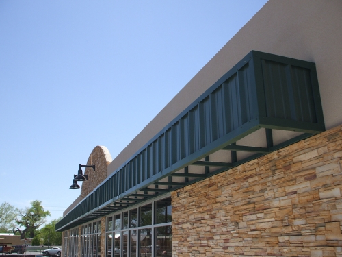 Metal Roof Panels on Boxed Steel Structure - Rader Awning