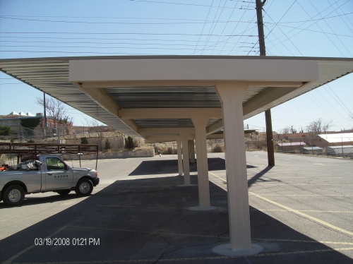 Semi-Cantilevered Carport - Rader Awning