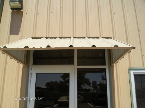 Standard Slope with Metal Roof Panels - Rader Awning