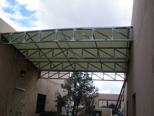 Steel Trusses with Cool-A-Roo Fabric - Rader Awning