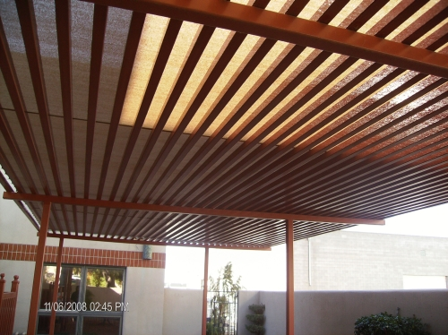 Steel Trellis with Cool-A-Roo Fabric - Rader Awning