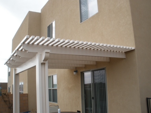 Lattice AlumaWood Cover - Rader Awning