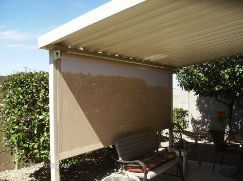 W-Panel Cover with Steel Posts - Rader Awning