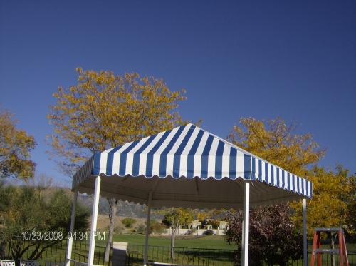 Hexagonal Gazebo Patio Cover - Rader Awning