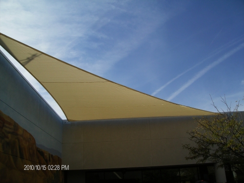 Triangle Shade Sails with Perimeter Cable - Rader Awning