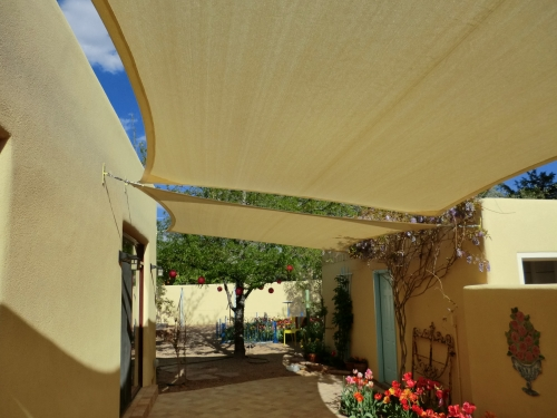 Rectangular Shade Sails with Perimeter Cable - Rader Awning