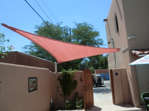 Triangle Shade Sail with Perimeter Cable - Rader Awning