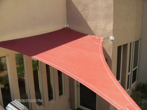 Polygon Shade Sail with Perimeter Cable - Rader Awning