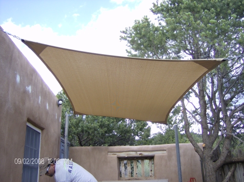 Rectangular Shade Sail with Perimeter Cable - Rader Awning